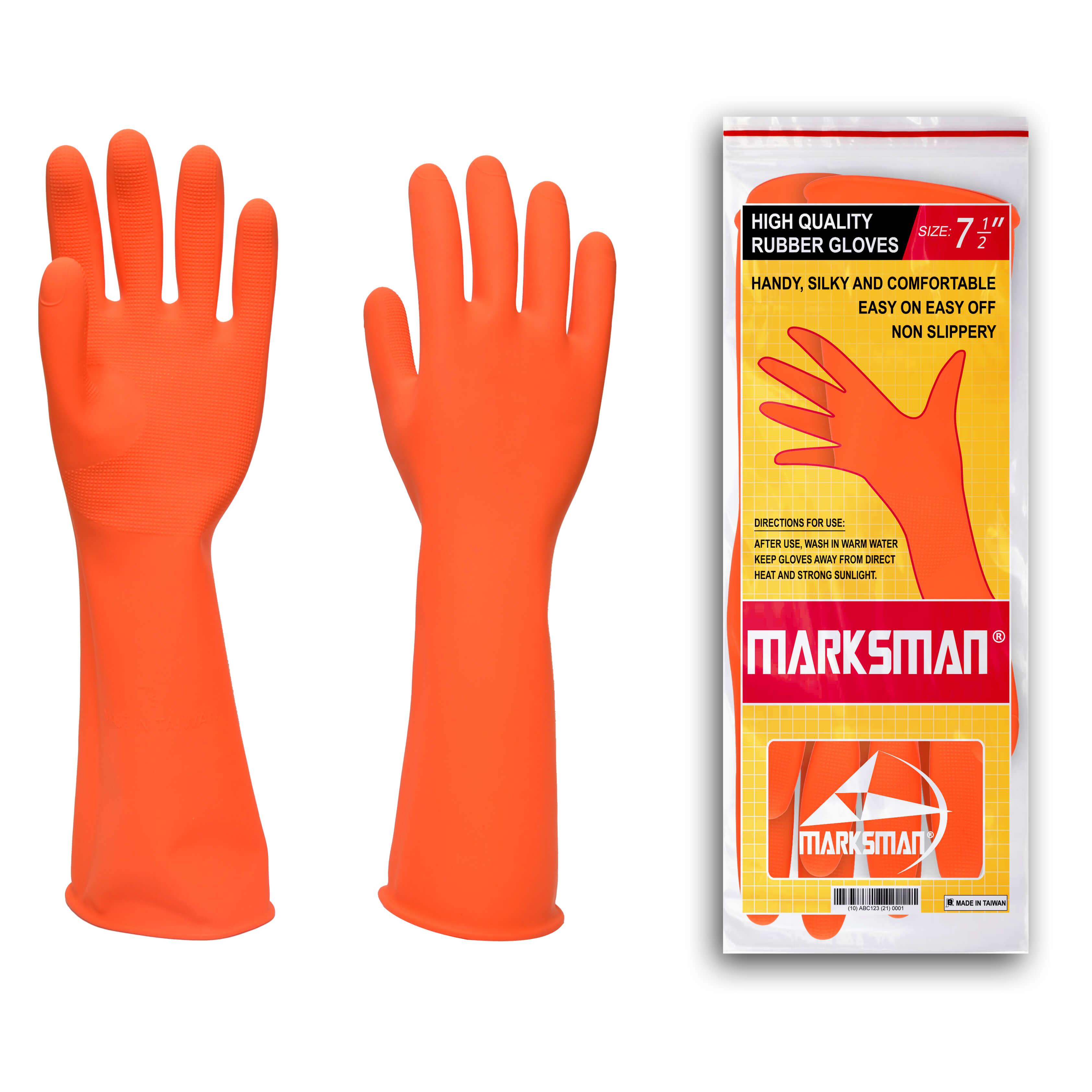 Marksman Household Dishwashing Gardening Rubber Gloves
