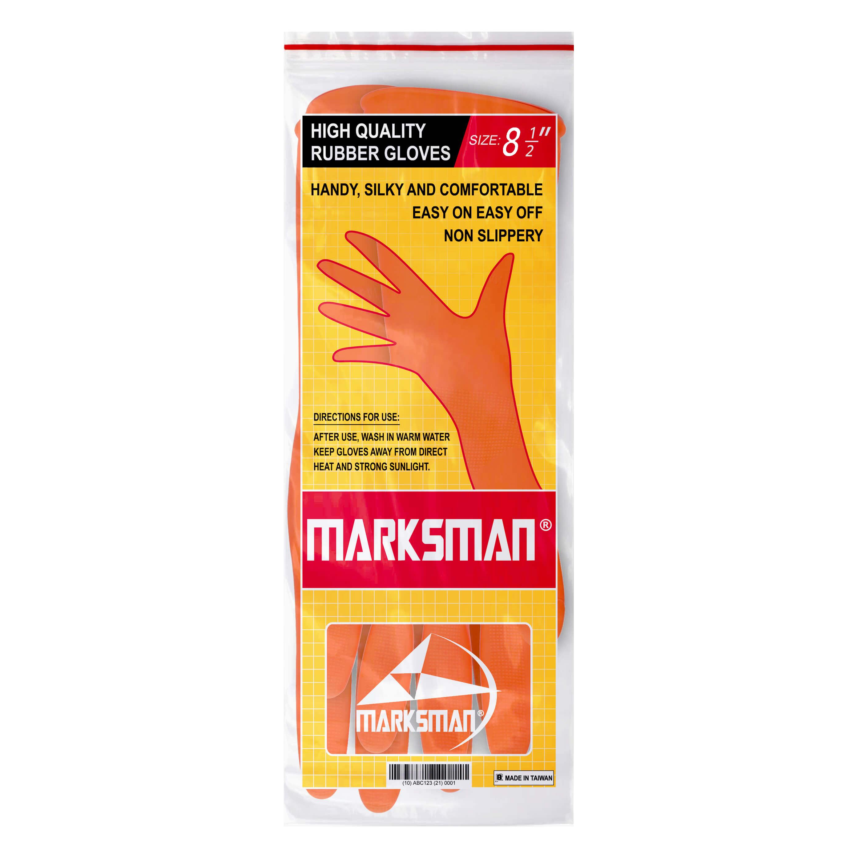 Marksman Household Dishwashing Rubber Gloves Richard