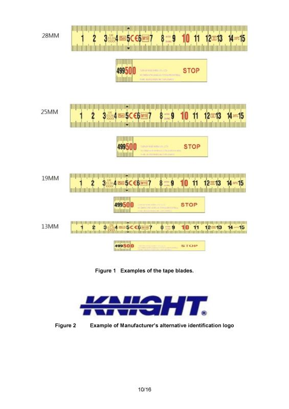 CE Certificate; tape measure; measuring tape; Richard & Brothers; how to read a tape measure;